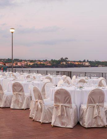 In questa foto un ricevimento vista mare all'Hotel Santa Tecla