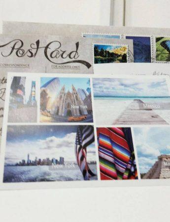Partecipazioni di nozze sul modello delle cartoline, ispirate al tema del viaggio
