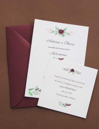 Un'elegante partecipazione di nozze realizzata da Block Design