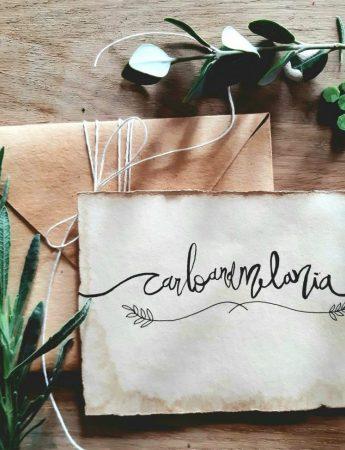 Partecipazione di matrimonio calligrafiche