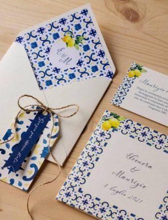 Wedding Stationery ispirata alle maioliche