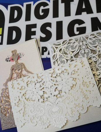 In questa foto tre tipi di partecipazioni realizzati da Digital Design