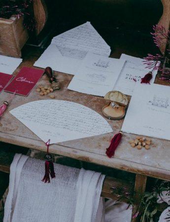 Una Wedding Stationery in stile vintage