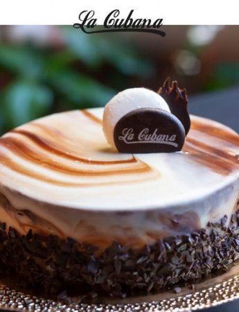 In questa foto una delle torte della pasticceria La Cubana