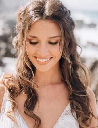 In questa foto un trucco sposa naturale della make up artist Maria Vittoria Cataldo