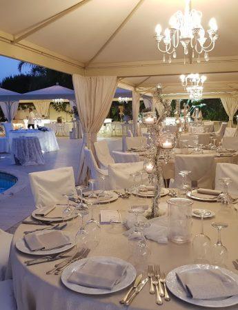 In questa foto un allestimento di nozze all'Holiday Club Ricevimenti