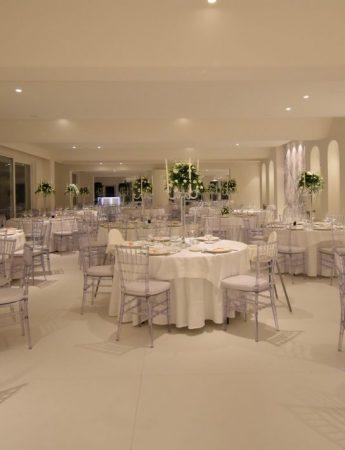 In questa foto un allestimento nuziale nel salone di Hosh Charming Events ad Acireale