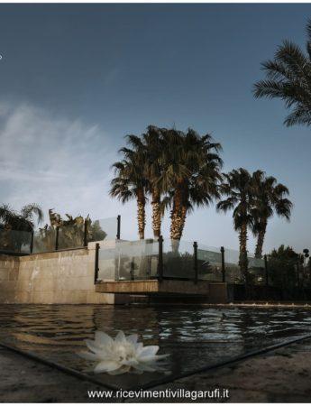 In questa foto le fontane esterne di Villa Garufi a Biancavilla