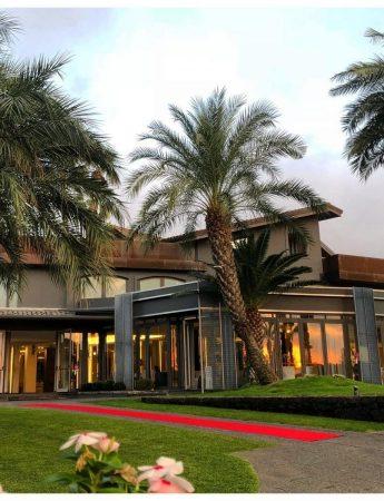 In questa foto l'ingresso di Villa Verdiana ad Aci Bonaccorsi