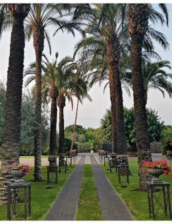 In questa foto il parco di Villa Verdiana ad Aci Bonaccorsi