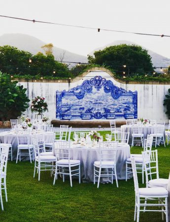 In questa foto un allestimento di un matrimonio nel giardino di Villa Alliata Cardillo a Palermo