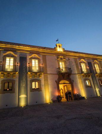 In questa foto la facciata esterna di Villa Alliata Cardillo a Palermo