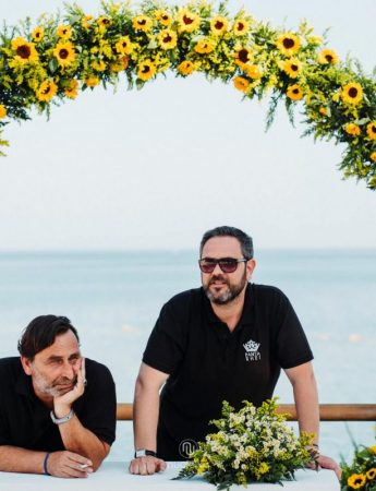 In questa foto i wedding planner di Catania Luca Melilli e Franco Cannata