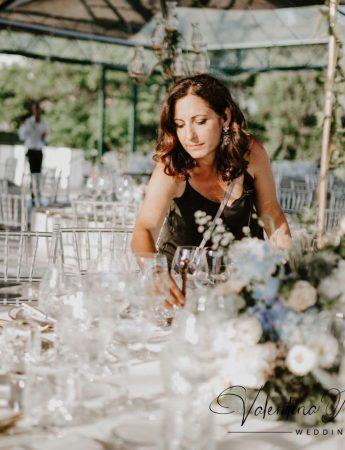 In questa foto la Wedding Planner Valentina d'Amelio